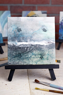 Beth Kushnick Canvas Painting with Mini Easel