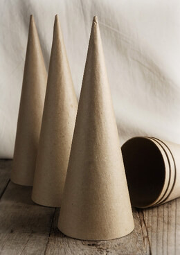 "Paper Mache Cones 10.5"""