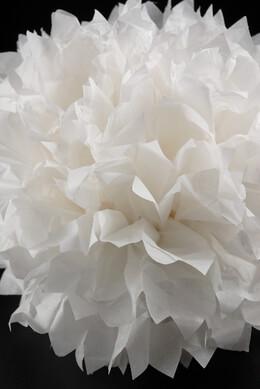 """4 Tissue Paper Pom Poms 16""""  White"""