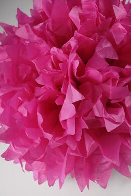"4 Tissue Paper Pom Poms 16""  Pink"