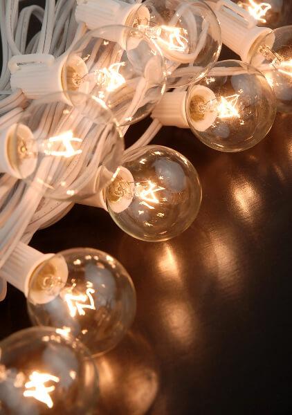 "Globe Lights, Paper Lantern Lights 31.5ft - 10ct (for 12"" -24"" lanterns)"