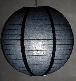 12 inch BLACK Paper Lanterns