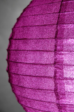 "Dark Pink Glitter 12"" Hanging Paper Lanterns"