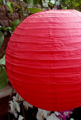 """12"""" RED Paper Lanterns"""