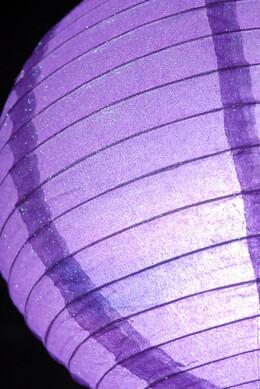 "Lavender Purple 12"" Glitter Paper Lanterns"