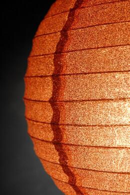 "12"" Copper Glitter Paper Lanterns"