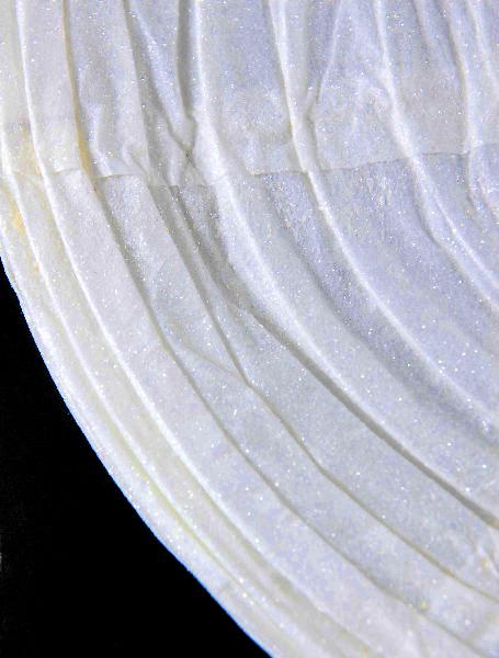 "12"" WHITE GLITTER Paper Lanterns Round"