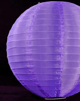"18"" Nylon Paper Lanterns  PURPLE"