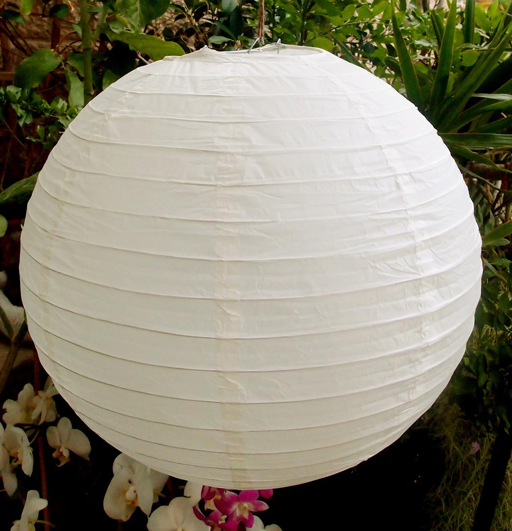 """24"""" Paper Lanterns BEIGE"""