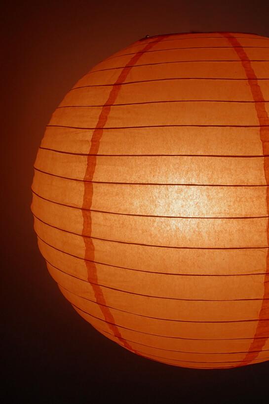 "24"" Orange Peach Paper Lanterns"