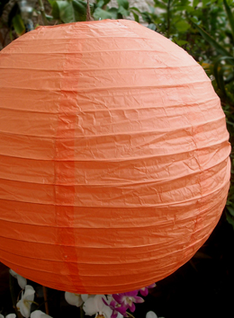 "24"" Orange Peach Paper Lanterns"