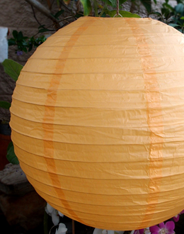 "Paper Lanterns 24"" LIGHT ORANGE"