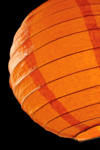 "8"" ORANGE Paper Lanterns (PACK of 10)"