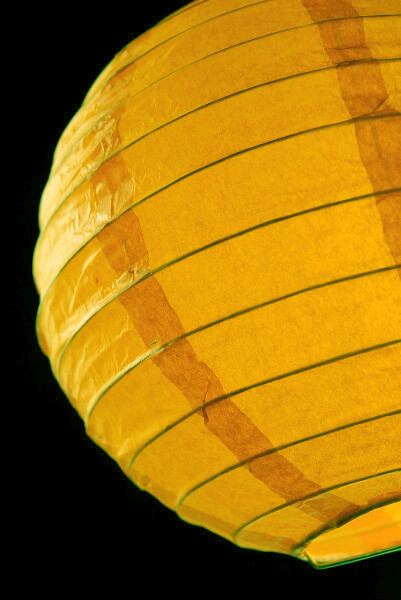 Yellow Paper Lantern 8in