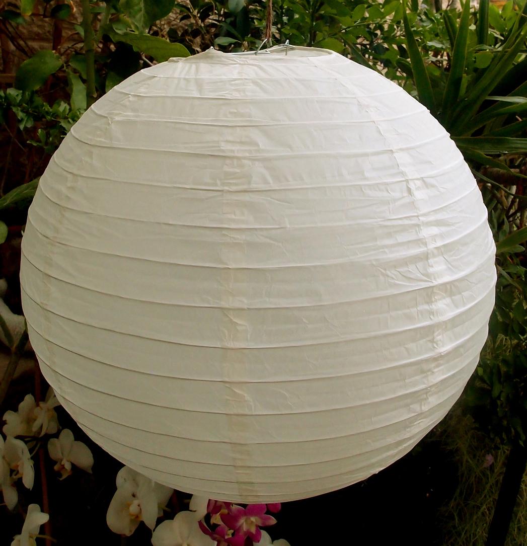 """12"""" Paper Lanterns BEIGE"""