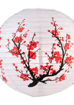 "14"" Japanese Plum Tree Paper Lanterns"