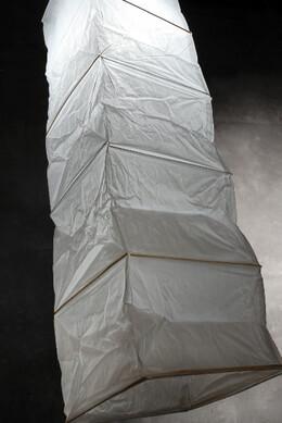 "Rice Paper & Bamboo 45"" Lantern  WHITE, Extra Long 12x12 Square"