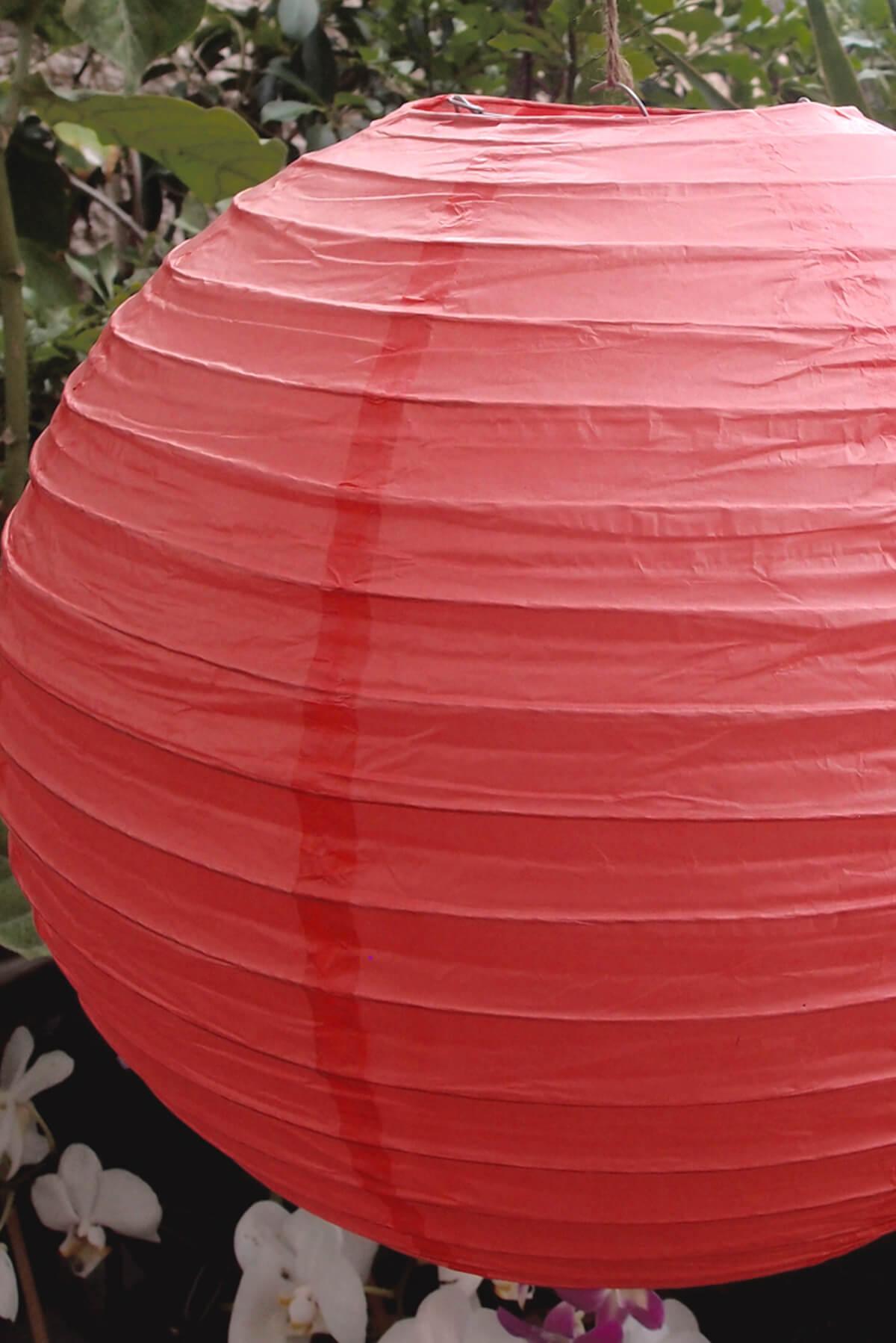 12 Quot Coral Pink Paper Lanterns