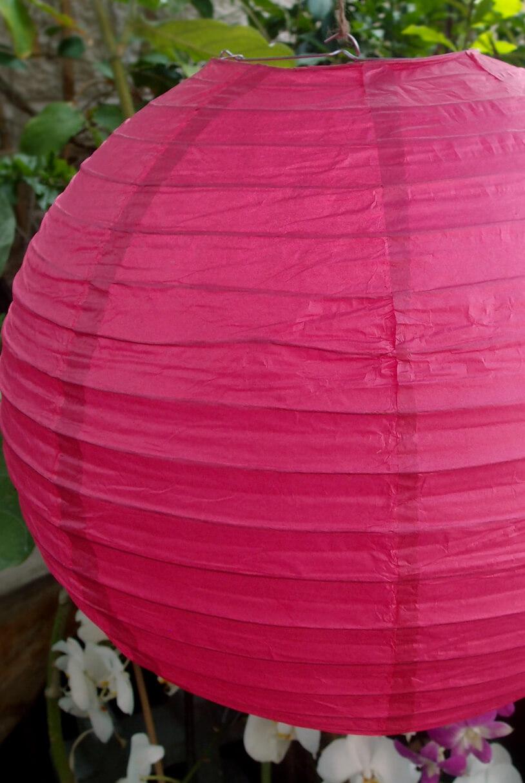 24 Quot Paper Lanterns Pink Rose
