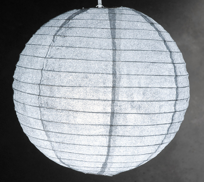 12 Quot Silver Glitter Paper Lanterns
