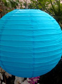 "24"" TURQUOISE BLUE Paper Lanterns"