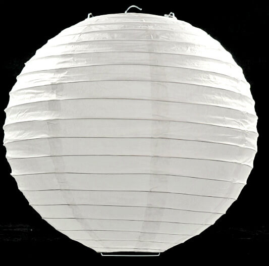 """12"""" White Round Paper Lanterns"""