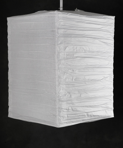 "6 WHITE 10"" Hako Paper Lanterns, Rectangle 8x8x10"