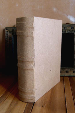 Paper Mache Book Box 6 x 7.75in