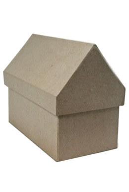 Paper Mache  House Box  4 x 7 x 6
