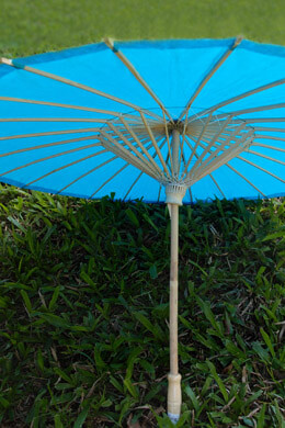 Paper Parasols Turquoise  Blue 28in