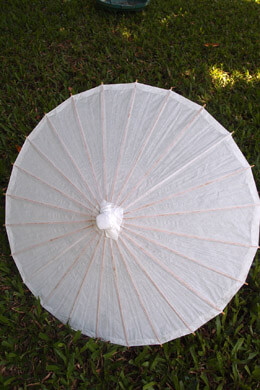 White Paper & Bamboo Parasols 20""
