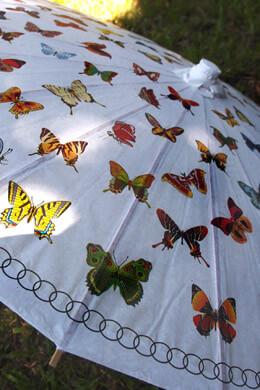 Butterfly Paper Parasol 32in
