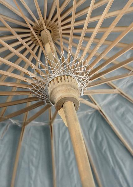 White Bamboo 32in Parasols Wedding Parasols