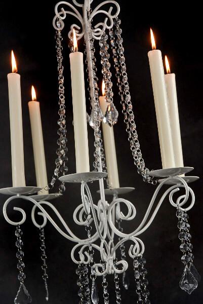 Market 27in crystal chandelier candleholder flea market 27in crystal chandelier candleholder mozeypictures Choice Image