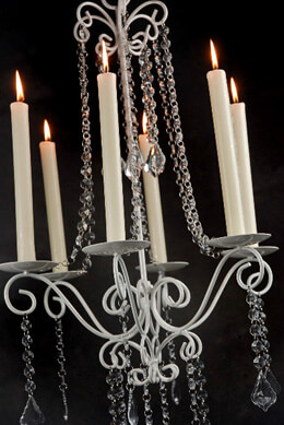 Flea Market 27in Crystal Chandelier Candleholder