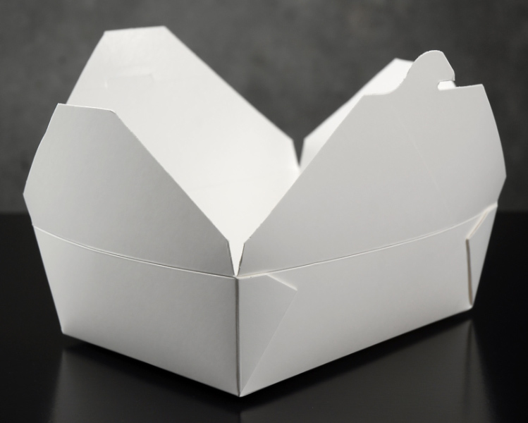 Bio-Pak White #3 Meal Boxes  50 Pack