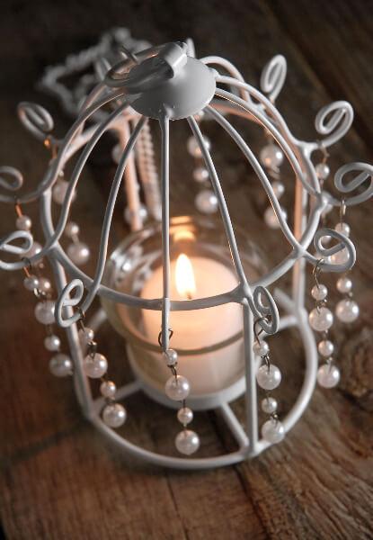 pearl birdcage tealight