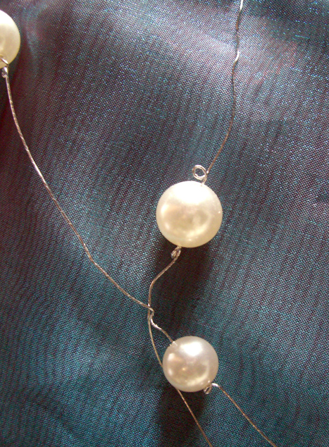 Pearl Wired Garland 6ft