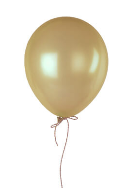 """100  Champagne 12""""  Balloons Pearl Finish"""