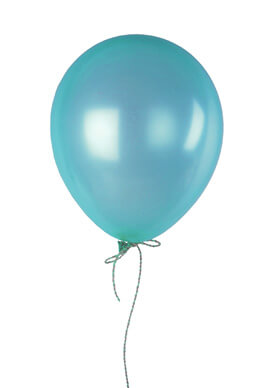 """100 Teal Blue 12"""" Balloons, Pearl Finish"""