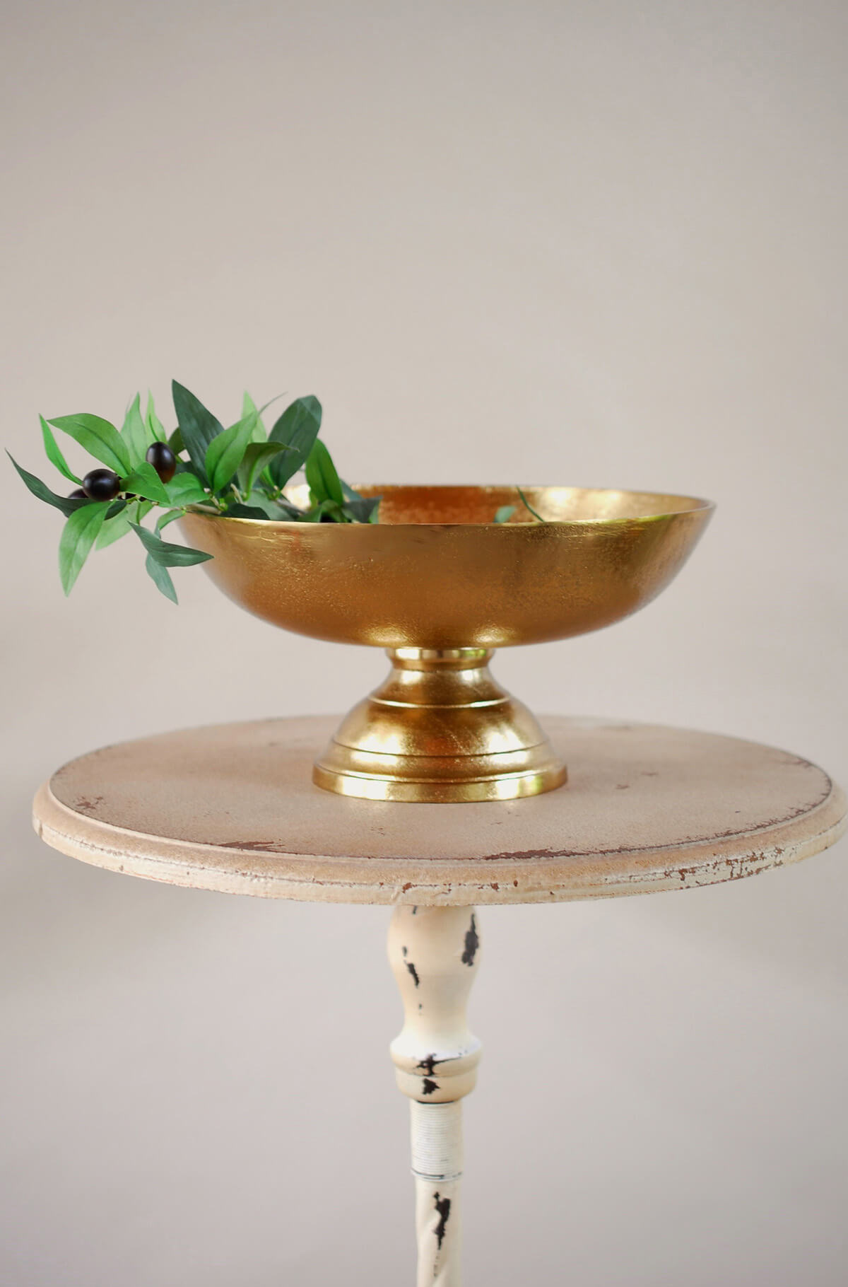 Pedestal Bowl Gold 12x6in