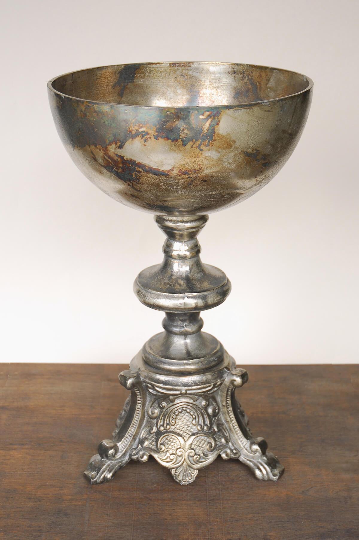Pedestal Bowl Metal 21 5in
