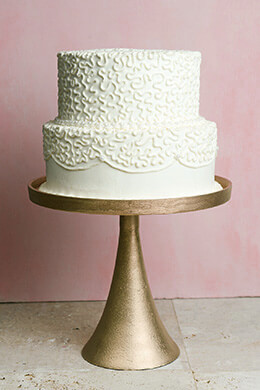 "Meryl Pedestal Stand 12""x 11"" Champagne"