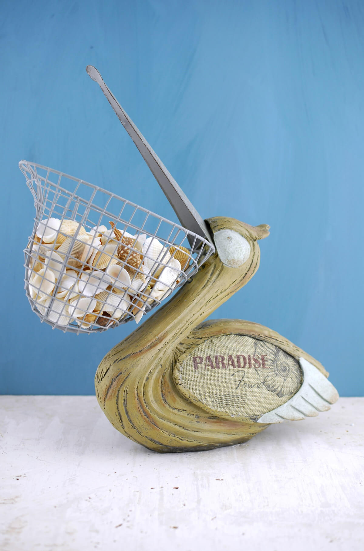 With wire basket beak 14in pelican with wire basket beak 14in publicscrutiny Choice Image