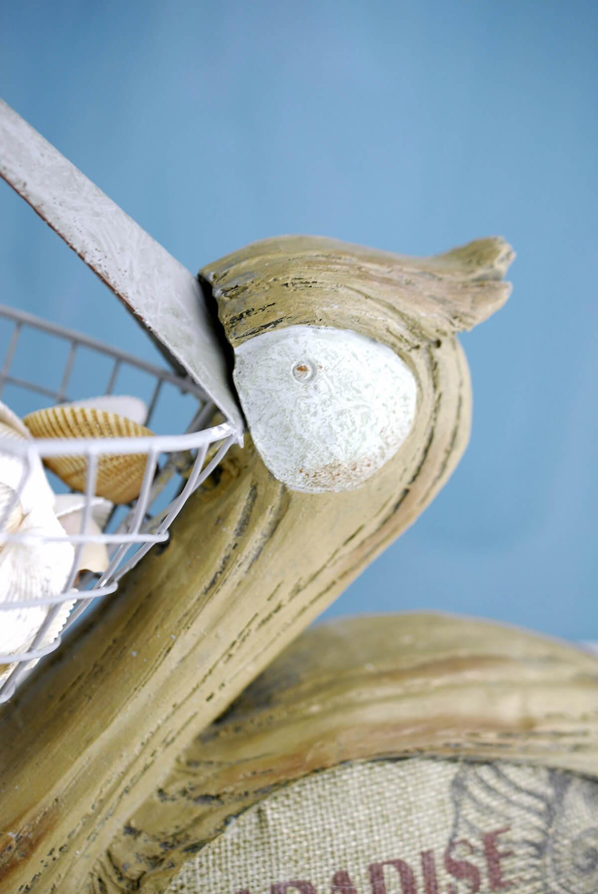 Pelican With Wire Basket Beak 14in