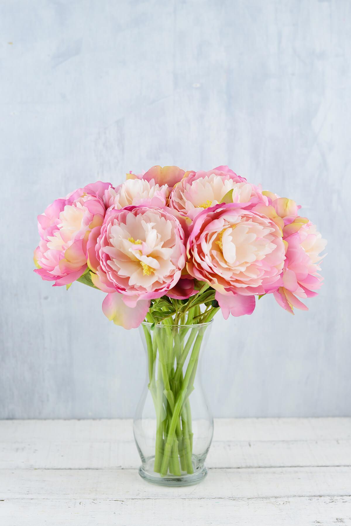12 pink mauve peony flowers izmirmasajfo