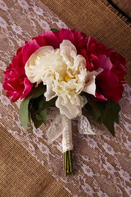 Peony and Ranunculus Bouquet 11in