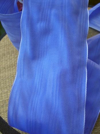 "Periwinkle Blue Decio Moire 3 "" Ribbon 27ft"