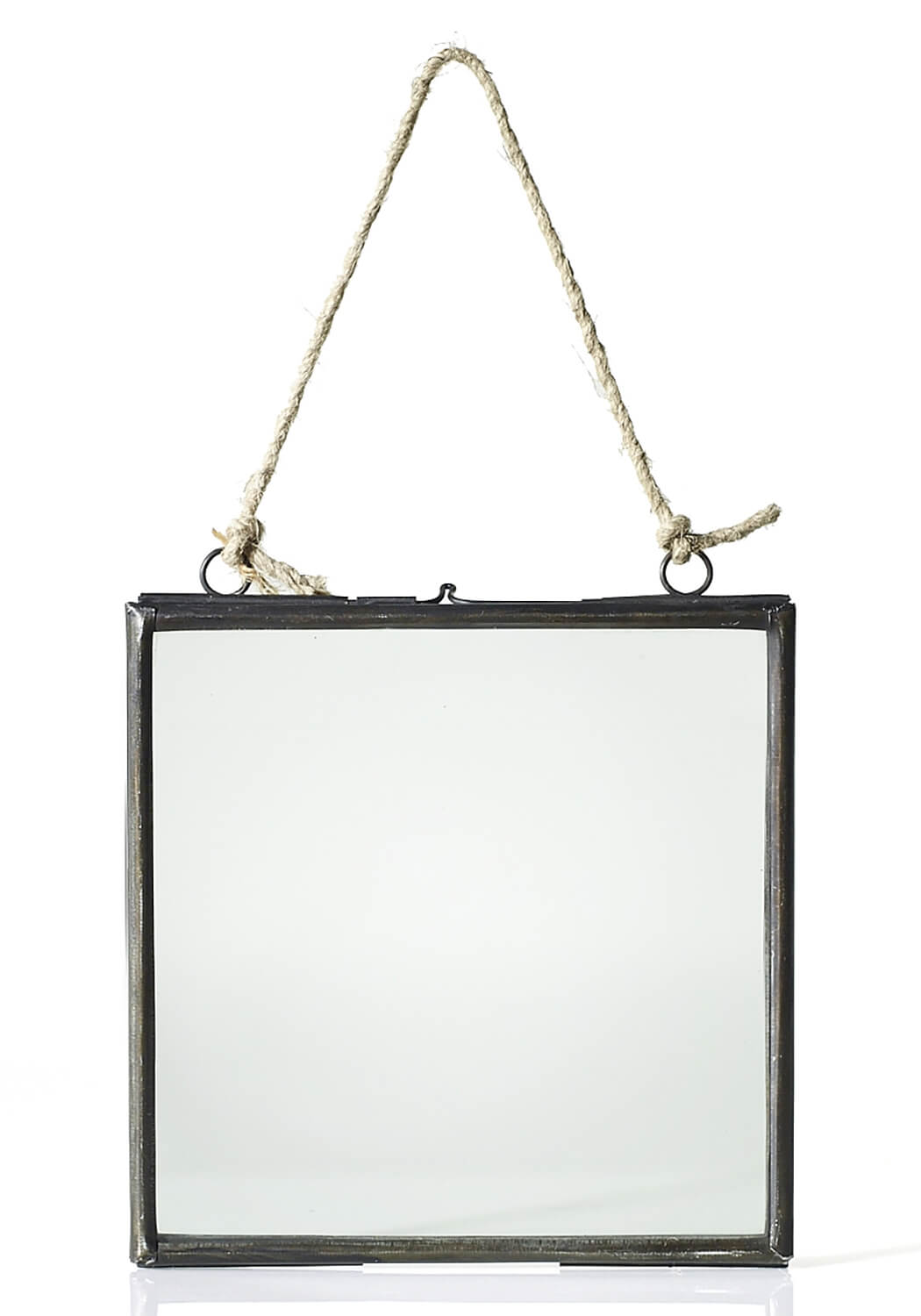 Hanging Metal Double Glass Frame 6x6.5