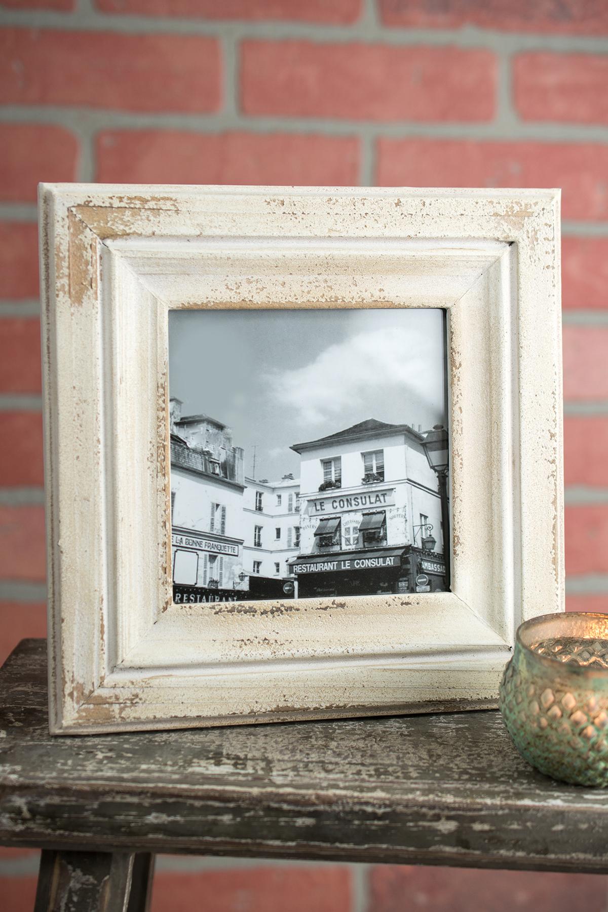 Rustic White Photo Frame 5x5
